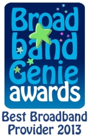 Broadband Genie Home Broadband Survey winner award