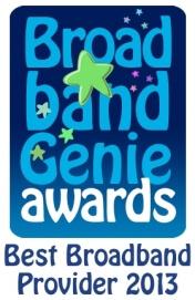 Broadband Genie Home Broadband Survey winner award