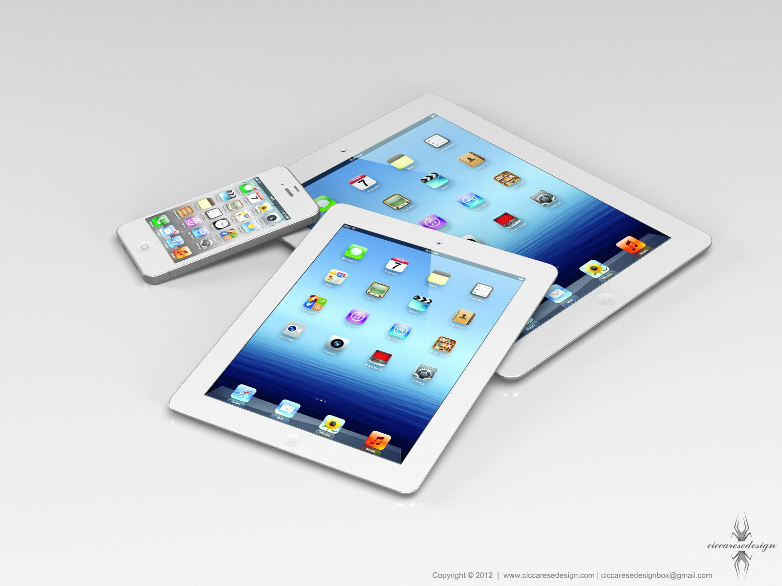 iPad Mini concept via Ciccares Design