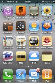 iPhone screen