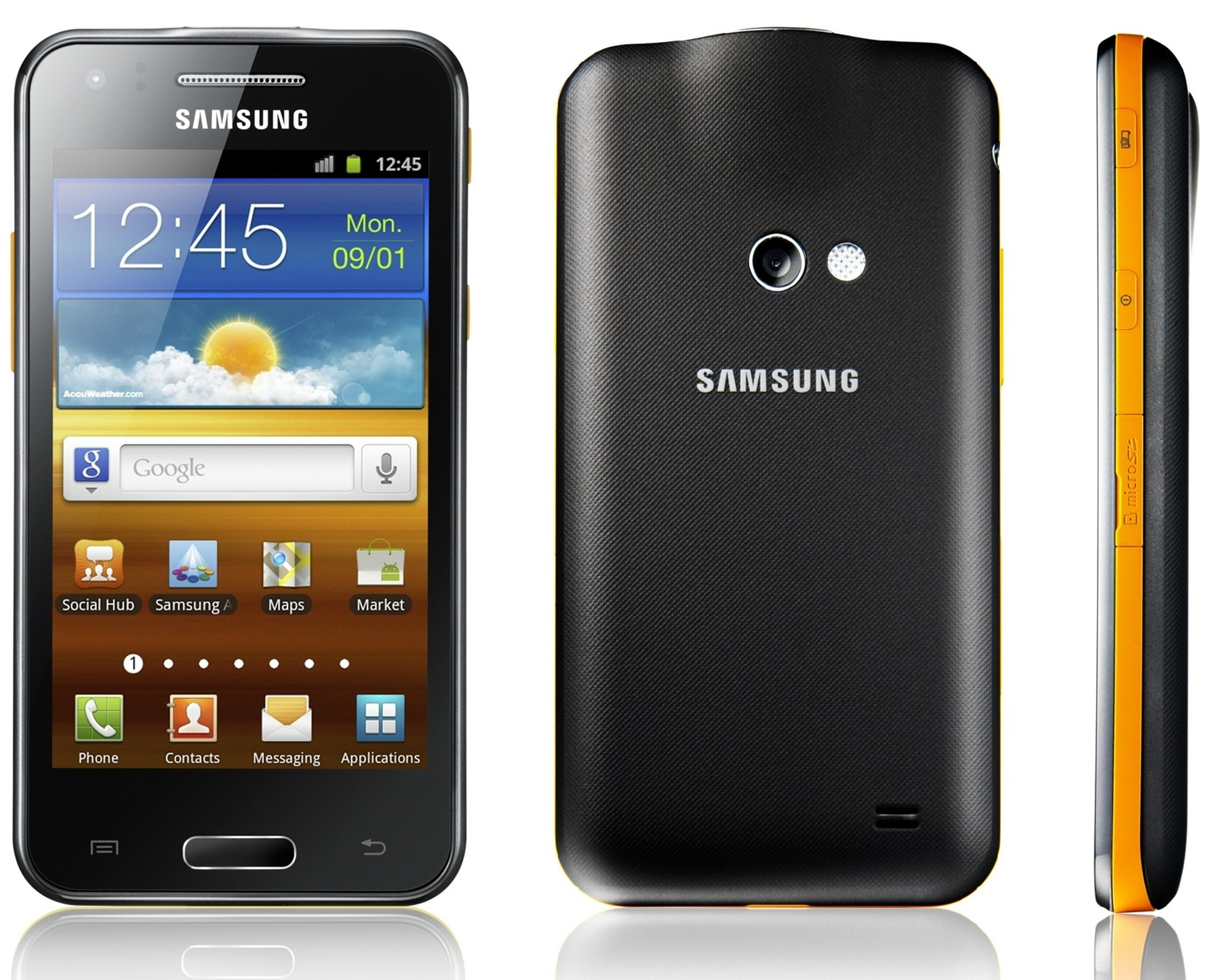 Samsung Galaxy Beam front side back