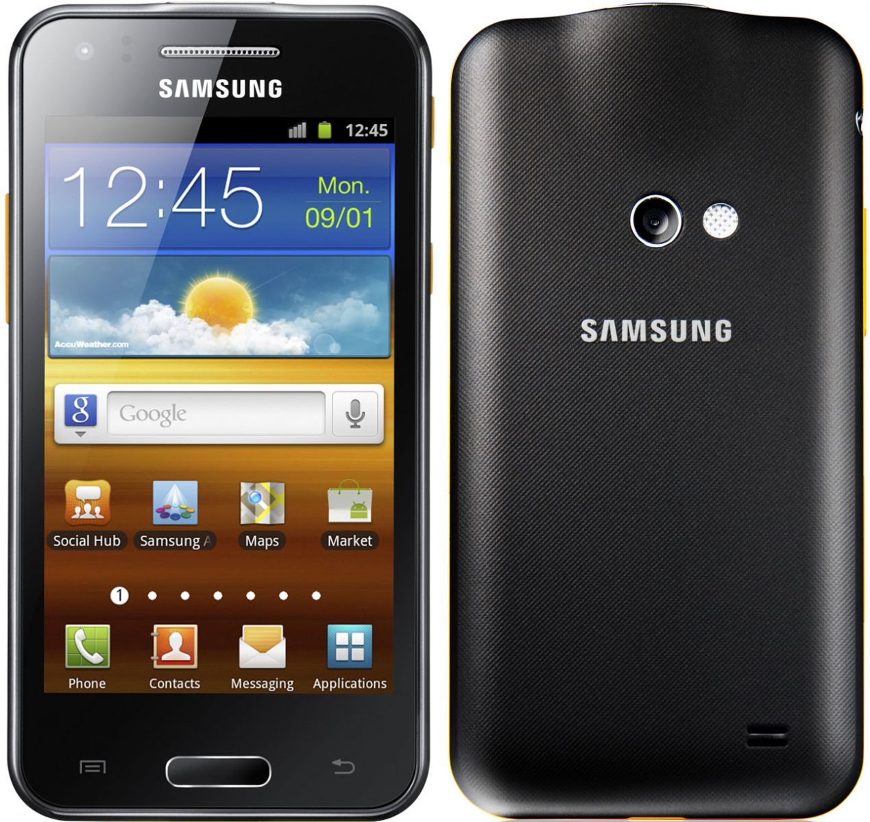 Samsung Galaxy Beam front back